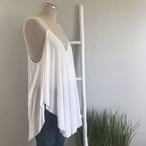 Free People | White Strappy Cosmic Layering Tank